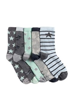 Buy Five Pack Mint And Grey Pineapple Ankle Socks from the Next UK online shop