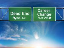web.Career change or dead end job concept. Stock Image
