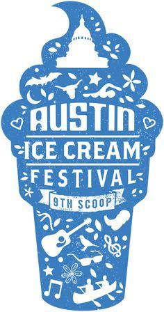 austin icecream festival logo - Google Search                                                                                                                                                     More