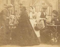 Village Food Market Scene Uniformed Soldier Drinking C 1860s Stereoviews | eBay