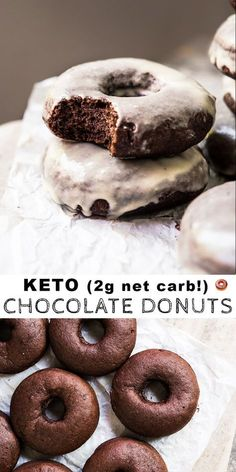 Gluten Free, Dairy Free & Keto Chocolate Donuts (just net carbs!) Glazed Gluten Free, Dairy Free & Keto Chocolate Donuts (just net carbs!)Glazed Gluten Free, Dairy Free & Keto Chocolate Donuts (just net carbs! Keto Friendly Desserts, Low Carb Desserts, Low Carb Recipes, Vegetarian Recipes, Low Carb Donut, Low Carb Keto, Donut Recipes, Dessert Recipes, Breakfast Recipes