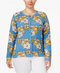 5248769e06b Charter Club Plus Size Printed Cardigan. Great for Fall or Spring! Price  can