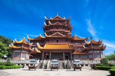 Temple of Xichan in Fuzhou, #China. Xichan temple dating from thousand years ago is very famous place for Buddhism in southeast of China.