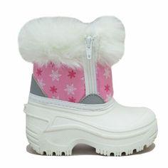 Weather Spirit Toddler Girl's Happy double zip -22 Temp Rated Winter Boot