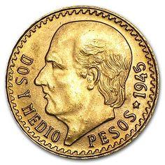 Mexican 2 1/2 Pesos Gold Coin - 2.5 Pesos