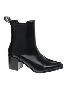 ASOS APPRISE Leather Chelsea Point Ankle Boots