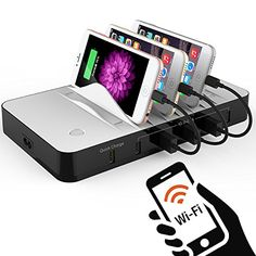 Charging Station WIFI Smart USB Charging Station Dock Organizer with 30 Port Cable Best for Smartphones Tablets Other Gadgets * Continue to the product at the image link. (It is an affiliate link and I receive commission through sales) Electronic Charging Station, Charging Station Organizer, Cable, Selfie Stick, Smartphone, Ebay, Electronics, Wifi, Car Chargers