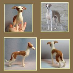 Custom Dog soft Sculpture needle felted by DreamwoodArtDesigns