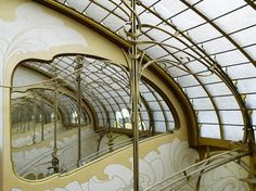 Skylight & mirrors on the top floor of Musee Horta.The major townhouses of the architect Victor Horta.