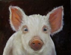 and I shall call you Penelope......  Pig Print  Yanni  Canvas Reproduction of by artprintsbycheri, $90.00