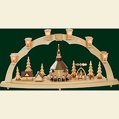 Candle Arch Seiffen at Christmas - 80 cm / 31 inch
