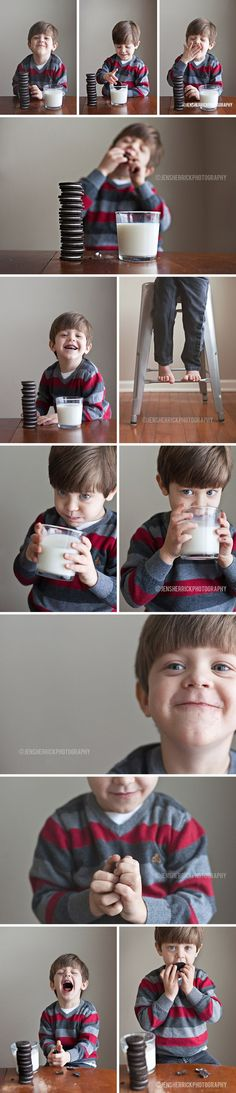 You, with your nasty whole milk. Indoor Lifestyle Photogrpahy with Oreo Cookies - Jen Sherrick Photography