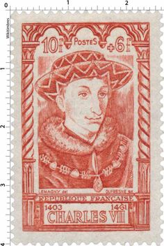 Timbre 1946 : CHARLES VII 1403-1461 | WikiTimbres