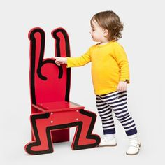 Some child, some day.  Keith Haring Wooden Chair, Red Vilac http://www.amazon.com/dp/B005XSA53G/ref=cm_sw_r_pi_dp_PIF6ub17N2QK3