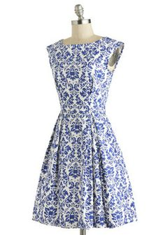 Be Outside Dress in Delft, #ModCloth - there are no words....