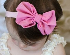 Rosa Chiffon arco de cabelo Headband chique gasto do vintage hairbow bebê cabeça