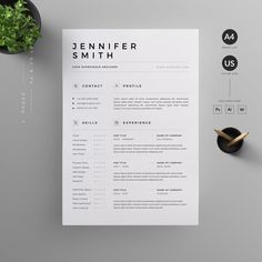 O V E R V I E W Clean, Modern and Professional Resume and Letterhead design. Fully customizable easy to use and replace color & text. H I G H L I G H T S - 3 pages resume template ( & US Letterhead Design, Resume Design Template, Creative Resume Templates, Cv Template, Design Templates, Design Resume, Design Design, Design Ideas, Resume Cv