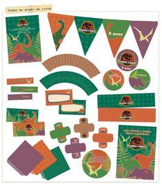 Kit digital personalizado Festa Dinossauros #festadinossauro
