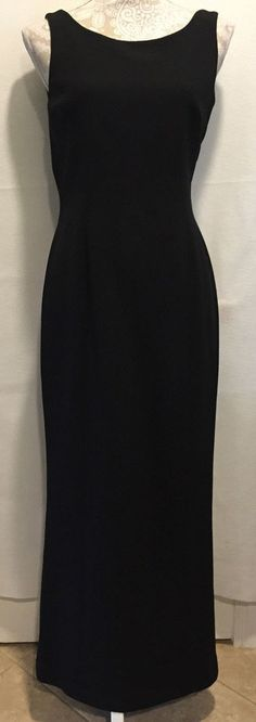 Tahari Women Long Formal Cocktail Black Special Occasion Dress Size 8 MSRP $299…