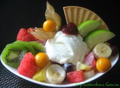 Ensalada de Frutas or Fruit Salad. Colombian style