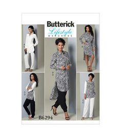 Butterick Pattern B6294-B50-Misses' Tunic And Pants-8-10-12-14-16