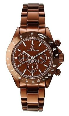 ToyWatch Metallic Brown Aluminum Chronograph Unisex Watch ME12BR -- Read more  at the image link.(It is Amazon affiliate link) #ilike