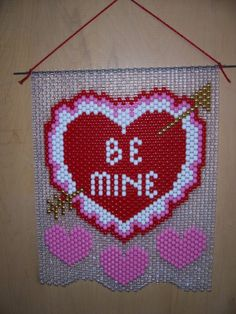 Valentine Beaded Banner by CraftingAddiction on Etsy, $20.00