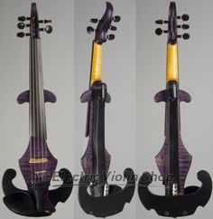 We've had purple five-string violas from Nick Tipney at Vector before, but never quite like this one. The previous violas were a lighter, less saturated color, but this one is the very definition of deep purple. It's a gorgeous color, just barely light Electric Violin, Saturated Color, Deep Purple, Musical Instruments, Passion, Random, Pictures, Products, Art