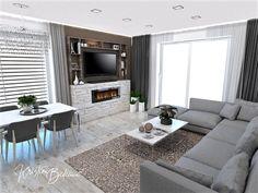 Funkčná elegancia - Dizajn kuchyne s obývačkou - Kristína Bedečová Living Room Kitchen, Luster, Couch, Contemporary, Furniture, Design, Home Decor, Elegant, Settee