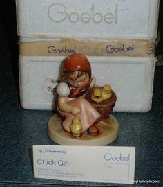 """Chick Girl"" Hummel Figurine #57/0 TMK6 Girl With Chicks - Great Easter Gift!"