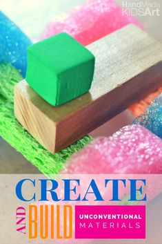 Creative Kids with STEM Preschool Activities. Create your own DIY unconventional building materials. I love the easy suggestion to create an invitation to play. We can do this one today!