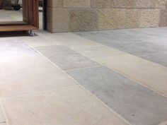 Eco Outdoor Beauford sandstone pavers feature a soft, creamy-grey color with a heavily distressed finish, ideal for a wide range of paving projects. Natural Stone Flooring, House, Interior, Stone Flooring, Sandstone, Flooring, Natural Stones