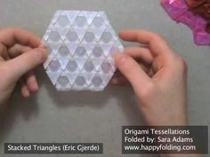 """Origami Tessellations article from """"the  fold"""" with links for showing how to do the tessellaitons"""
