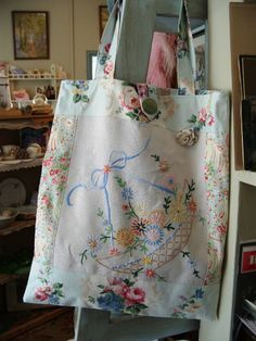 Totes from Vintage Linens - Nostalgia at The Stone House