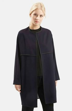 Topshop 'Edge to Edge' Blanket Coat available at #Nordstrom