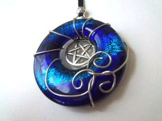 $23 Water Element Necklace Pagan Pentacle Adjustable FREE SHIPPING by thepurplehawk