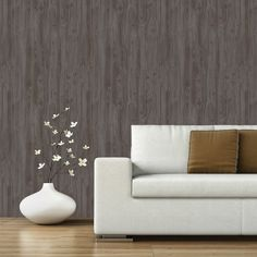 Devine Color Textured Driftwood Peel & Stick Wallpaper - Caramel and Sterling : Target Textured Wallpaper, Wallpaper Roll, Peel And Stick Wallpaper, Target Wallpaper, Wallpaper Ideas, Gray Wallpaper, Paintable Wallpaper, Geometric Wallpaper, Textured Walls