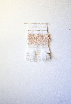 Alice // hand made weaving // cream fringe gold by EidieWeaving, $150.00