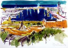 100x70 cm ©2014 por Jordi Serrat Jurado Painting, Impressionism, Artworks, Artists, Painting Art, Paintings, Painted Canvas, Drawings