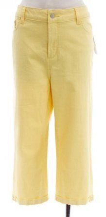 8713c44090d Not Your Daughter s Jeans Sunflower Cotton Stretch  Fiona  Mini Cuffed Crop  Pant 16P NYDJ.  44.99
