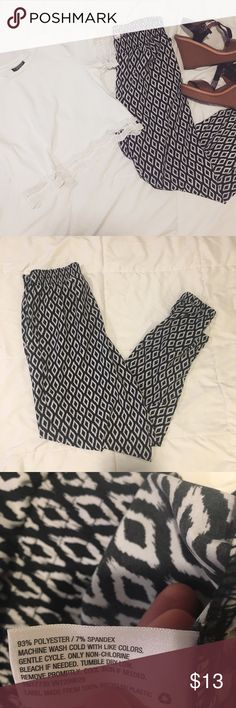 Printed Harem Jogger Stretchy Pants Pants only included* size small. Words don't express how comfy these are. They are perfect for going out you can really dress these down or up. And paired with a white crop top or white dressy Blouse it makes an adorable outfit. Pants