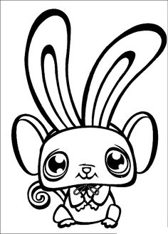 Littlest Pet Shop color page cartoon characters coloring pages