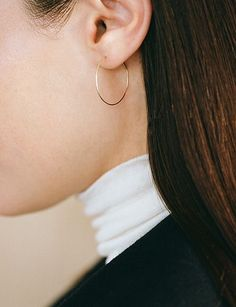 thin gold hoop