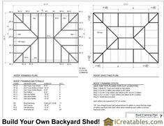 Best Shed Roof Framing Plan Shed Roof Framing Plan - This Best Shed Roof Framing Plan images was upload on August, 2 2020 by admin. Here latest Shed Roof Framing Plan images coll... Shed Building Plans, Shed Plans, Porch Plans, House Plans, Shed Roof, House Roof, Hip Roof Design, Cool Sheds, Roof Storage