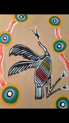 My first attempt at aboriginal art using acrylics