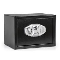 Ivation IVAFINGSAFE15 Electronic Biometric Fingerprint Safe for Guns, Valuables & Manuscripts  Fingerprint Sensor, Full-Sized Digits, Override Keys  4 AA Batteries Included