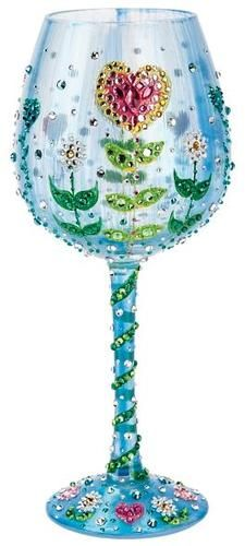 """Mother's Garden"" Super Bling Wine Glass by Lolita (Hula Island)"
