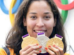 Kromowidjojo, zwemkampioen van de OS in Londen, 2x goud, 1x zilver
