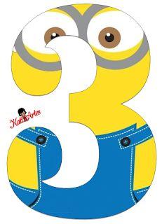 Minion printable party banner: numbers and alphabet a-z Minion Mask, Minion Theme, 3 Minions, Minion Party, Minion Birthday Banner, 3rd Birthday Parties, Birthday Party Decorations, Party Themes, Minion Classroom