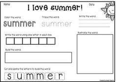 My Summery Sentences - FREE!